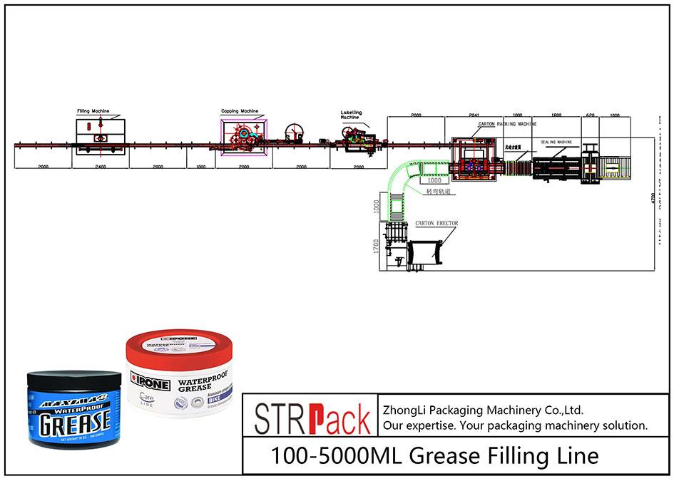 Garis Pengisi Grease 100ML-5L otomatis