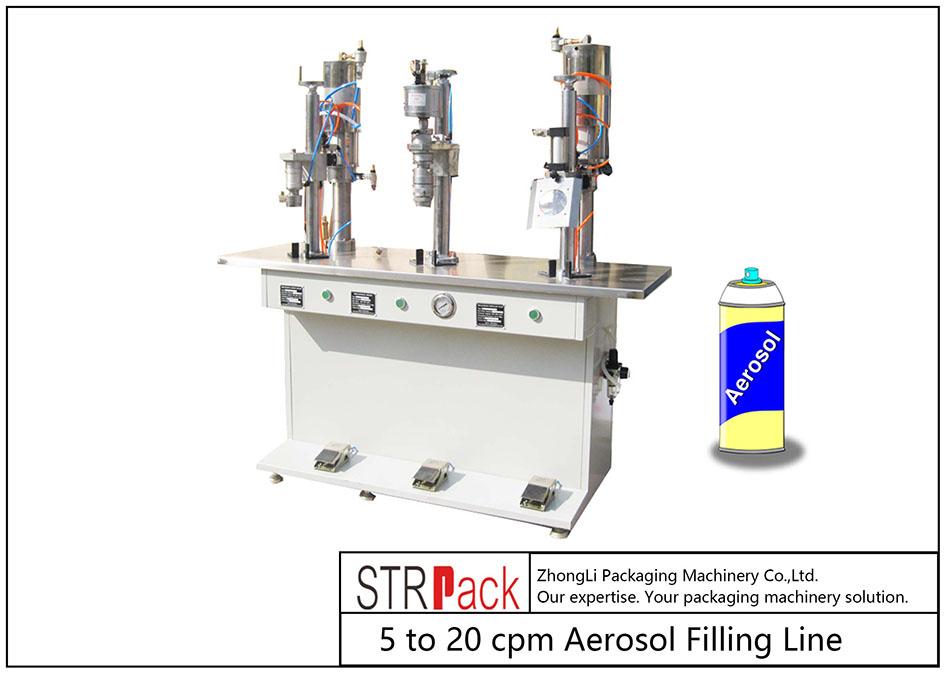 Mesin Pengisi Aerosol Semi-otomatis