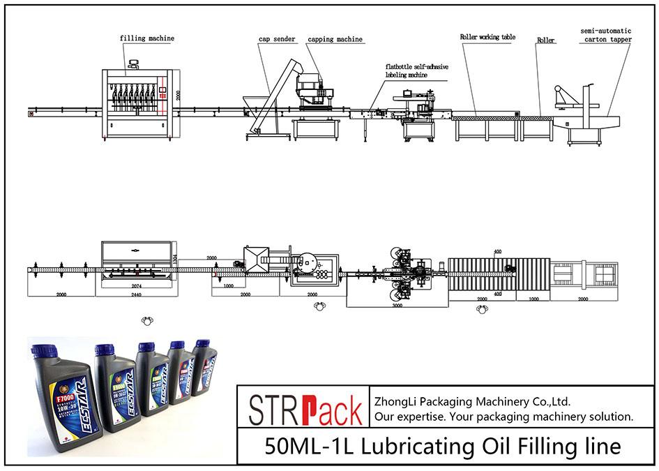 Garis Pengisi Lubricating Minyak Lubricating 50ML-1L