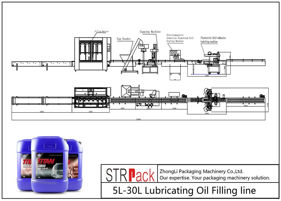 Garis Pengisi Minyak Lubricating 5L-30L otomatis