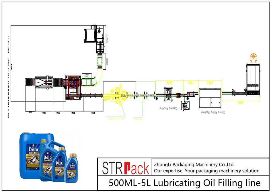 Garis Pengisi Lubricating Minyak Lubricating 500ML-5L otomatis