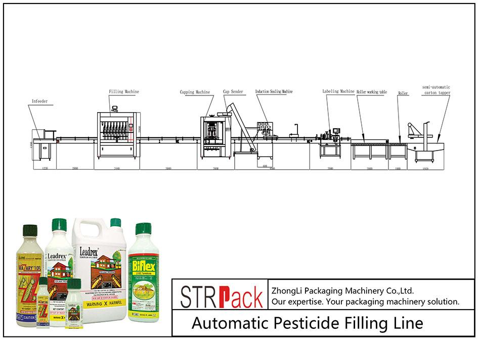 Garis Pengisi pestisida otomatis