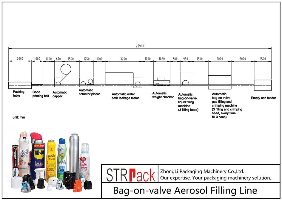 Mesin Pangisi Aerosol otomatis-Bag-on-katup